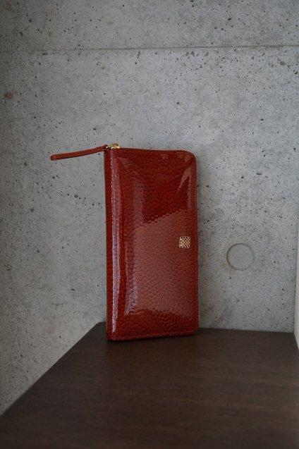 【期間限定販売】JUNYA WARASHINA(ジュンヤ ワラシナ) Wallet(ZIP) Lacina CD01 color:エナメルRED