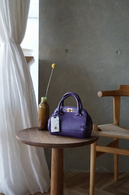 【4/18までの期間限定販売】JUNYA WARASHINA(ジュンヤ ワラシナ) 2WAY(Hand&Shoulder) minibag GURE-mini color:PURPLE