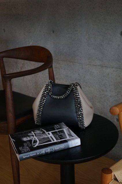 de Couture(デクチュール)2WAYチェーントートバッグSサイズ  Black/Alabaster(Lightgreige)
