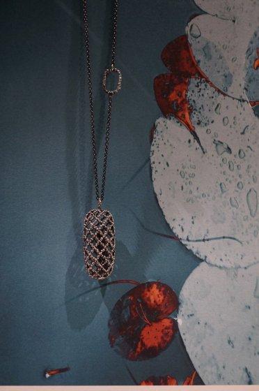 Segreti Collection Necklace(ネックレス)[CL5538 AGBR】シルバーブラック