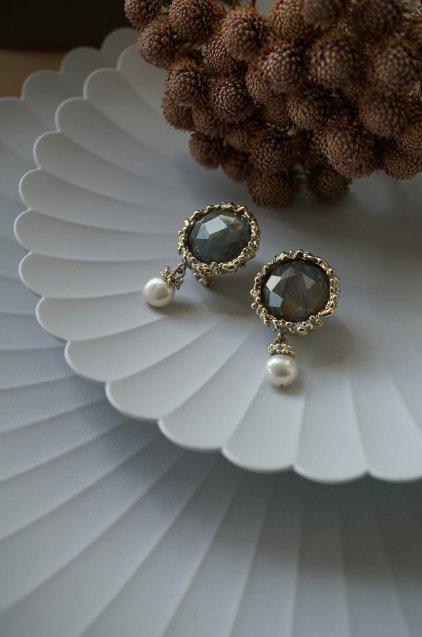 Small Crown Pieces (ピアス)[OR1087 OTAG Labradorite/Pearl
