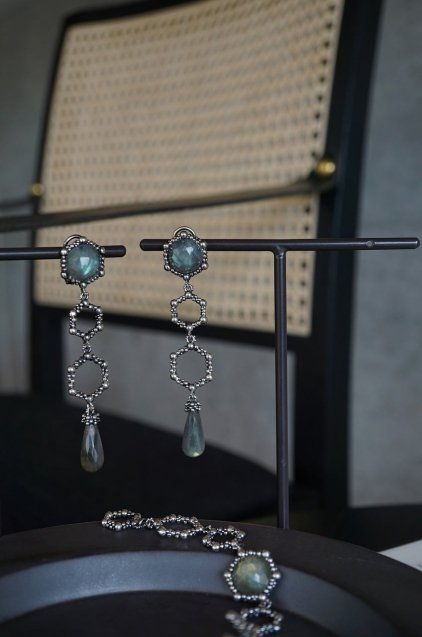Honey Collection Long Earrings(イヤリング) OR1340 AGBR Labradorite
