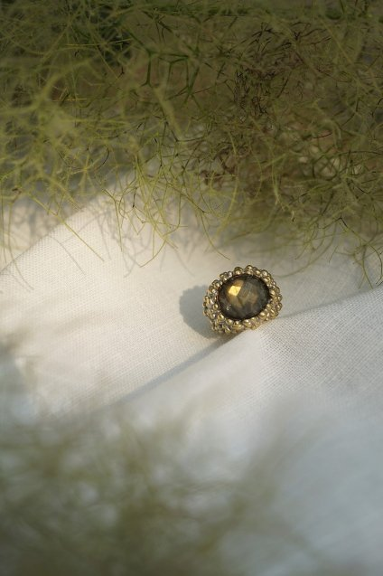 Simply Collection PinkyRing w/stone(ピンキーリング)【AN31 OTAG Labradrite】