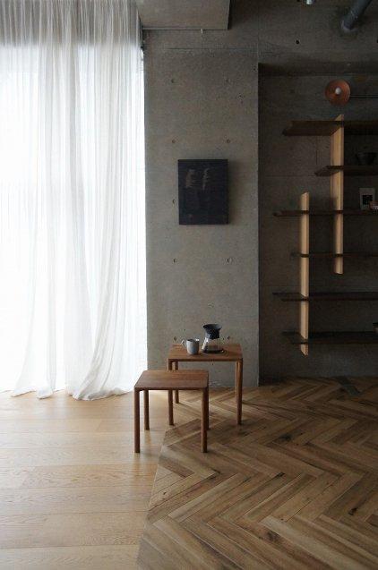 Fredericia  Piloti  Model-6700 Coffee Table(サイドテーブル)Sサイズ Smoked Oak/Oil仕上げ