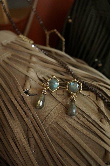 Honey Collection Earrings(イヤリング) OR1336 OTBR Labradorite