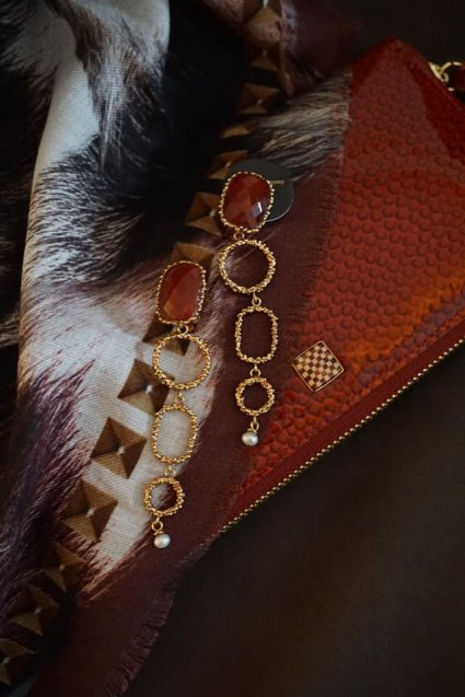 Segreti Long Earrings(イヤリング)OR1272 OTRA Corniola