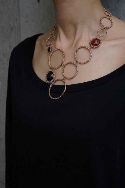Contamination Necklace(ネックレス)[CL 5466 OTRA Corniola/Smoky.Q/Onix]