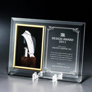 板ガラス写真立て表彰楯 JP-VOS.561