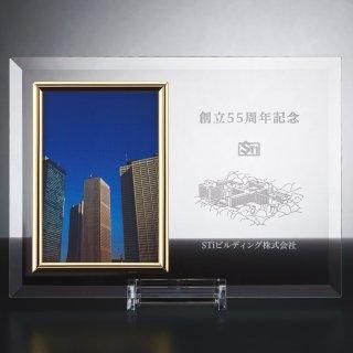 ガラスフォトスタンド レーザー彫刻 JP-D72-06