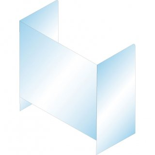 飛沫防止用アクリルパーテンション(コ型下空き)