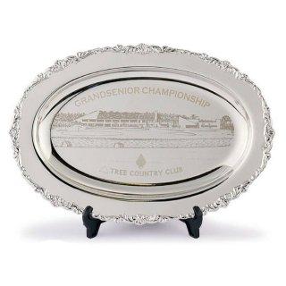 ゴルフ月例杯 真鍮製飾り皿 小判盆 JP-E96-01
