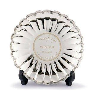 ゴルフ月例杯 真鍮製飾り皿 菊皿 JP-E96-02