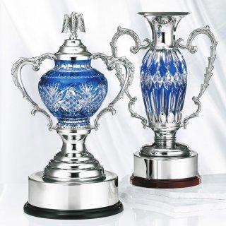 江戸切子クリスタルカップ JP-YC.2901(左)、JP-YC.2902(右)