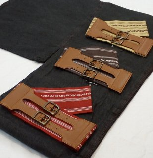 デニム着物はじめてみませんか デニム着物スターターセット 男性用 黒 簡単に着られます 帯ベルト(献上柄:赤、茶、からし)17,710円より