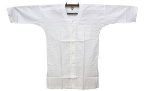 お祭用品 江戸一 鯉口シャツ 白 半長尺 在庫処分品