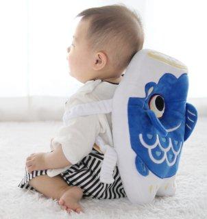 ごっつん防止リュック 鯉のぼりバージョン 赤ちゃんが頭を「ごっつん」させるのを防止!