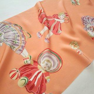 正絹長襦袢地 「紫織庵」大正友禅 フランス人形