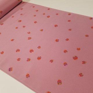 正絹長襦袢地 大人ピンクに鈴柄
