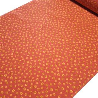 正絹長襦袢地 樺色に小梅