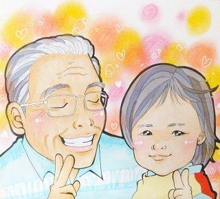 家族似顔絵(メルヘン風)