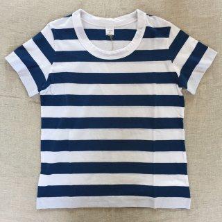 LAITERIE ボーダーTシャツ ホワイト×インディゴ