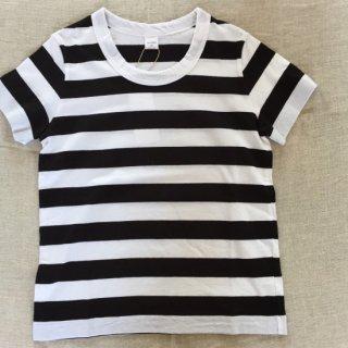 LAITERIE ボーダーTシャツ ホワイト×ブラック
