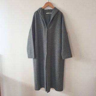 evam eva press wool hooded coat グレー