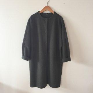 evam eva press wool coat オターグレー