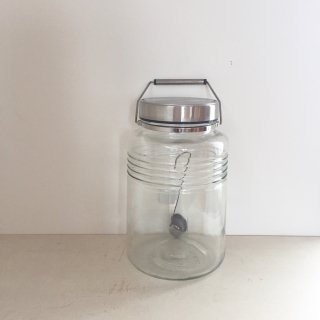 ADERIA GLASS Metal Cap Container 4L レードル付き