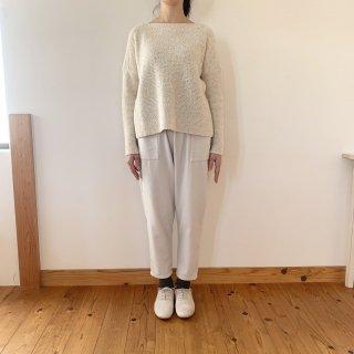 evam eva silk wool moss stitch PO エクリュ
