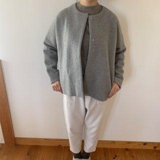 evam eva  press wool short coat グレイ