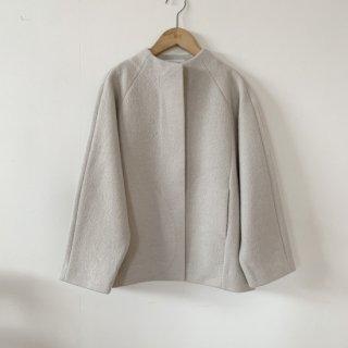 evam eva press wool short coat