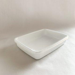 野田琺瑯 white sereise レクタングル浅型 M
