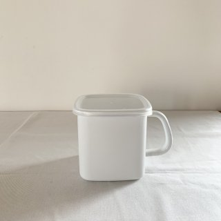 野田琺瑯 white sereise 持ち手付きストッカー 角型L