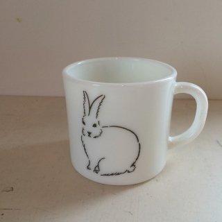 松尾ミユキ ミルクガラスマグ(rabbit)