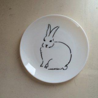 松尾ミユキ ミルクガラスプレート(rabbit)