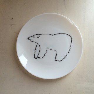 松尾ミユキ ミルクガラスプレート(bear)