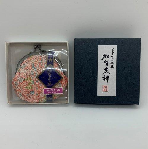 加賀友禅模様 がまぐち財布(花柄)