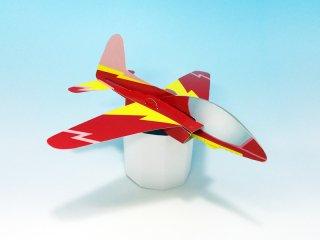 グライダー 赤(10個セット) ※型抜き加工済