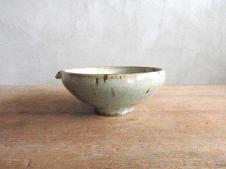 03 粉引灰釉 4寸片口小鉢(在庫1点のみ) / 竹本ゆき子