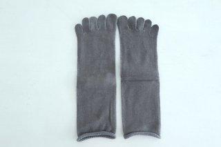 五本指「足の肌着」絹と綿 petta グレー / Glück und Gute