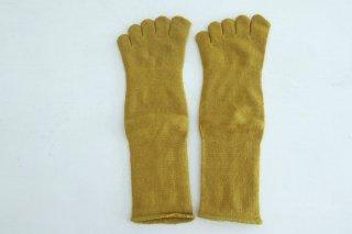 五本指「足の肌着」絹と綿 ミモザ / Glück und Gute