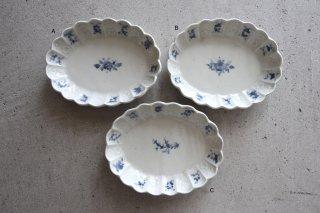 05 青白瓷 膾皿 左上より Asoldout・B・Csoldout(在庫各1点のみ) / ヨシノヒトシ