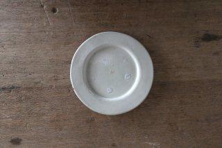 10 白瓷 リム小皿 B(在庫1点のみ) / タナカシゲオ