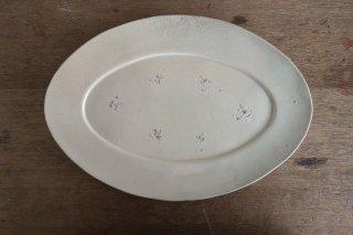 13 白瓷 オーバル皿(在庫2点のみ) / タナカシゲオ