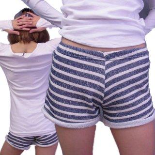 【値下げ500円!】とっても着やすい♪肌に触れ感も最高♪フィットネススタイルのボーダーショートパンツ!