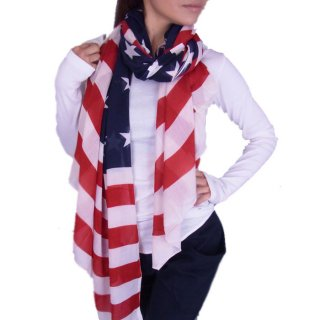 とってもカワイイ♪USAフラッグ柄★使いやすい大判サイズ♪BIGアメリカンショール♪スカーフ★ショール