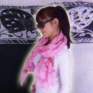 おしゃれセレブなクジャク柄♪オープン記念の激安499円☆大判ショール♪スカーフ★ショール★ストール★