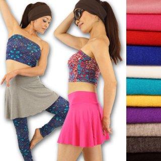 ひらひら可愛い レーヨン ミニスカート 選べる豊富な全12カラー フレアスカート ヒップスカート ベリー ダンス