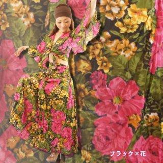 セットウェア バルーンスカート カーディガン セットアップ 花柄 衣装 ダンス サルサ 発表会 リゾート